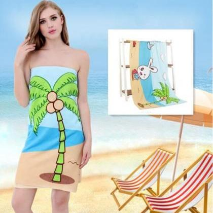 Printed beach towel bath towel