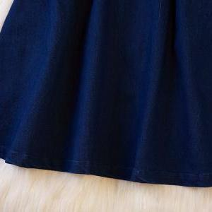 Sleeve dress denim skirt