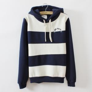 Stripes With Thick Fleece Sweater A..