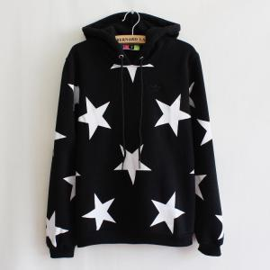 Stars Hooded Fleece Sweater