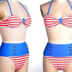 Swimsuit Swimwear Vintage Push Up H..