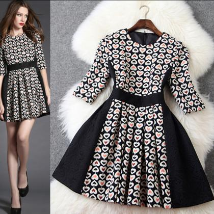 Fashion Jacquard Stitching Slim Sle..