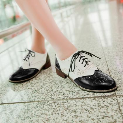 Vintage New Womens Shoes Lace Up Br..