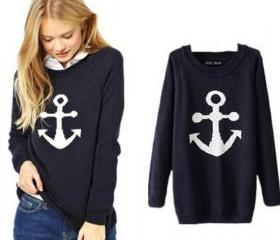 New Arrival Brand Women Sweater Anchor & Bicycle Fashion Winter Pullover Sweater Casual Tops Kintwear Cardigans S M L