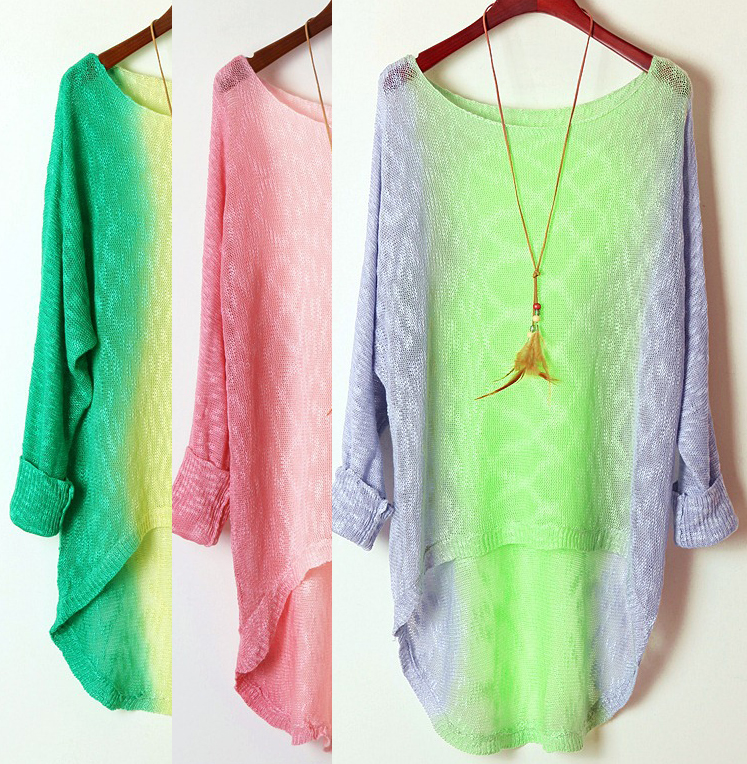 Retro -sleeved Tie-dye Gradient A 072913