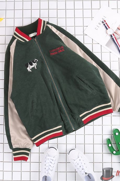 Cows Embroidery Jacket
