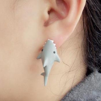 Shark Bite You Cute Earrings