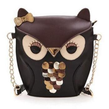 Ready To Ship Owl Purse Bag Black Bags Black Totes Black Shoulder Owl Bags