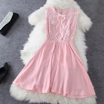 Fashion Bow Lace Dress