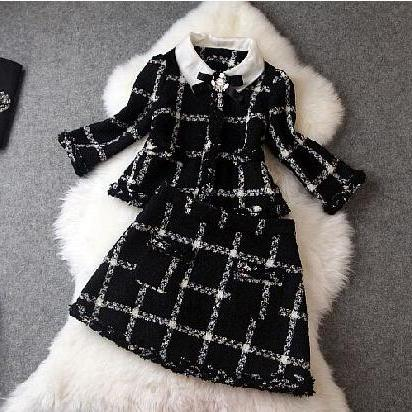 Cloth Coat Skirt (two-piece) CA922EA