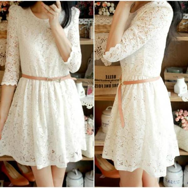 Beautiful Long Sleeve Lace Dress