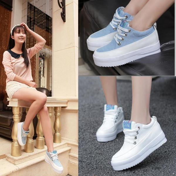 Punk Womens Platform Fashion Sneakers Casual Skateboarding Tennis Canvas Shoes