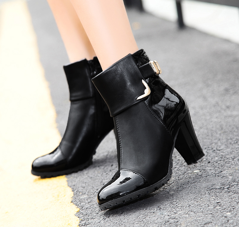Perfect Fashion Women Ankle Boots High Heels Lace Up Snow Boots Platform Pumps